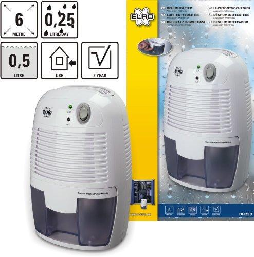 elro dh250 mini luftentfeuchter im test hygrometer test. Black Bedroom Furniture Sets. Home Design Ideas
